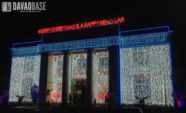 Davao City Hall during Christmas season