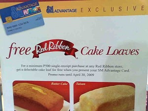 Free Red Ribbon Cake Loaf