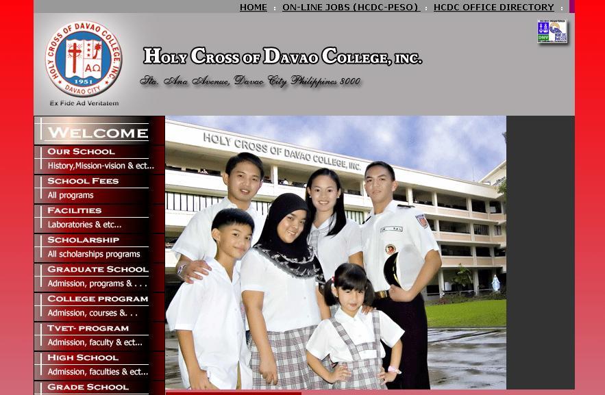 snapshot of HCDC's website