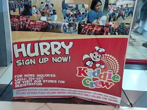 Jollibee Kiddie Crew Ad: Sign Up Now!