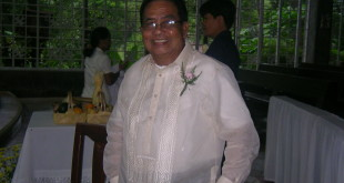 Papa during our wedding last October 2006