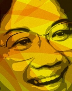 Cory Aquino: 1933-2009 (image taken from fjsanchez.wordpress.com)