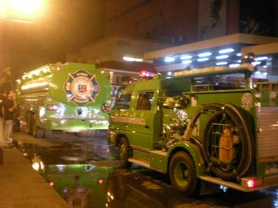 Fire trucks of a volunteer fire station (forgot the name)...so green!