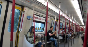 Inside the Mass Transit Railway (MTR) in Hong Kong