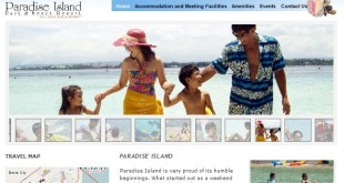 Paradise Island Park and Beach Resort's website