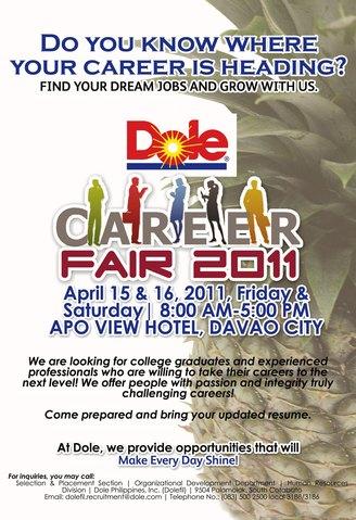 Dole Career Fair on April 15-16, 2011 | DavaoBase
