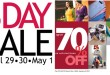 SM City Davao 3-Day Sale on April 29 to May 1, 2011. Enjoy up to 70% discount on selected items!