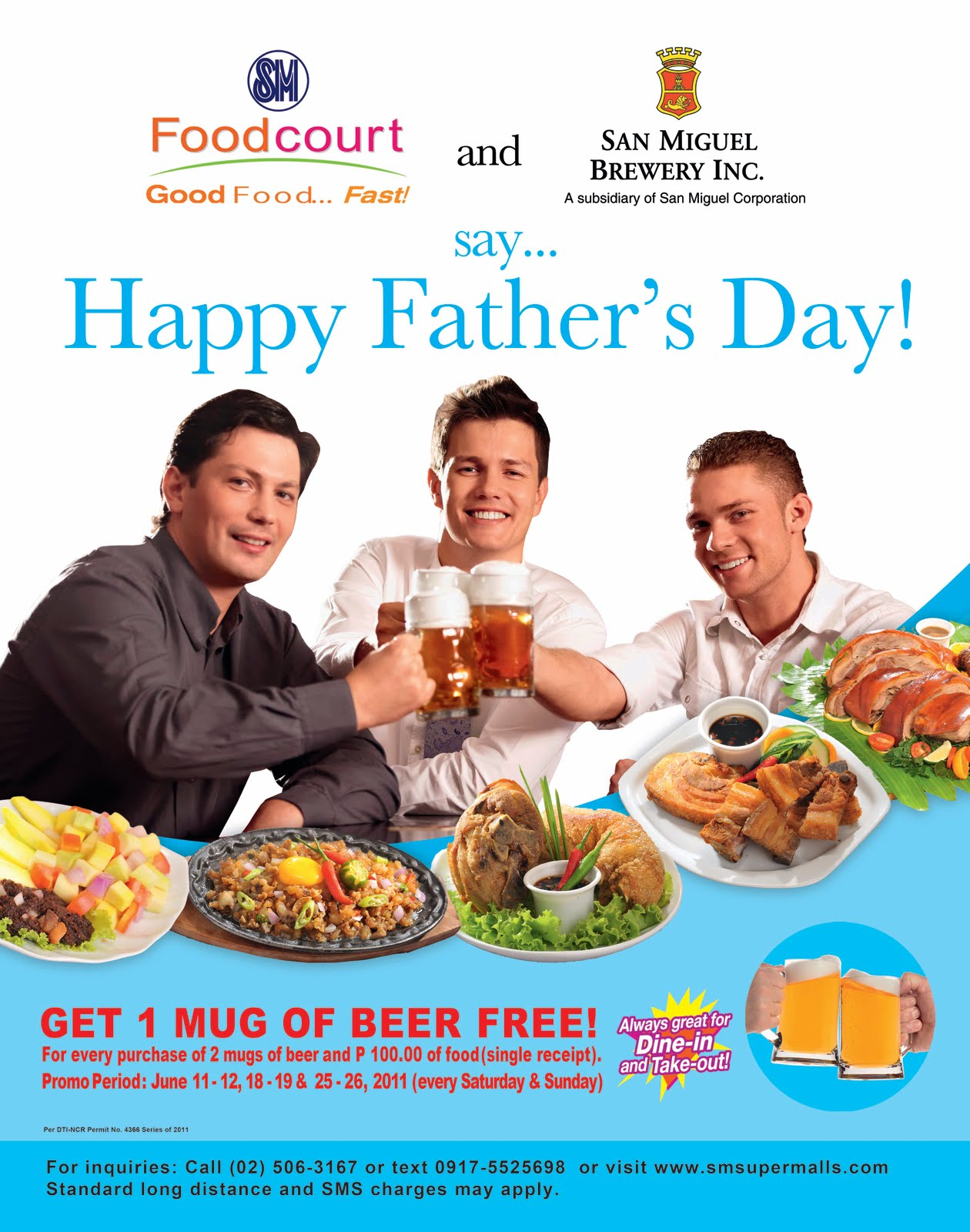 SM Davao Foodcourt celebrates Fathers Day 2011 with free beer