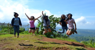The requisite jump shot! Taken at the View Deck in Kapatagan