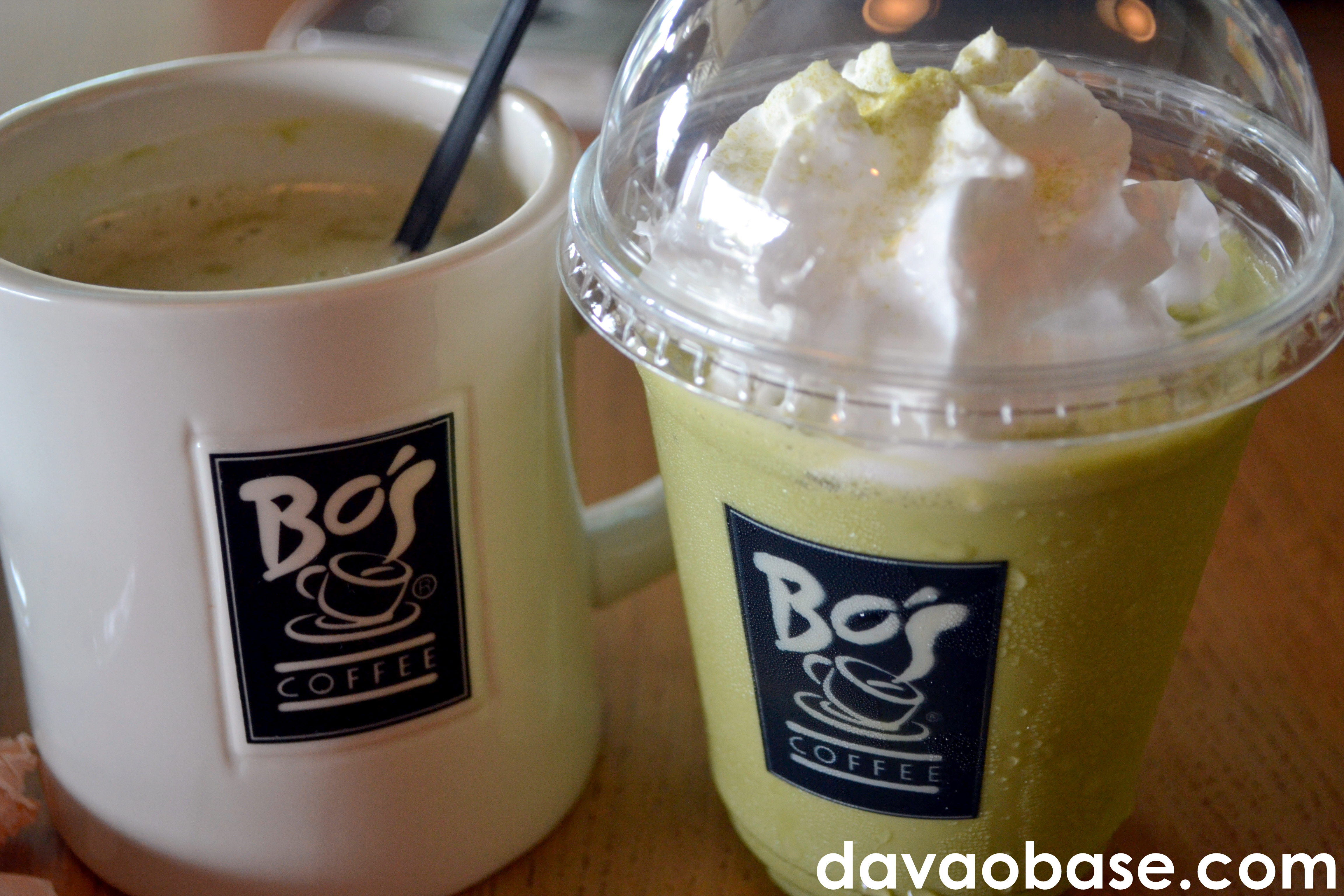 Macha Green Tea, in hot and iced variants, at Bo's Coffee Abreeza