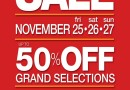 SM Department Store Thanksgiving Sale: November 25-27!