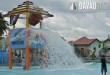 Giant bucket drop in Paraiso Verde's Moby Wave Pool