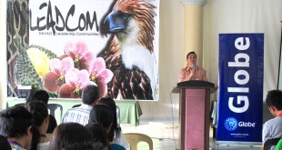 Mayor Sara Duterte giving keynote address in LeadCom Davao