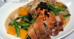 The Ritz Hotel Davao's Pinakbet with Lechon Kawali