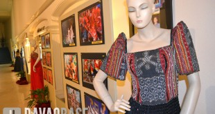 Display of ethnic fashion creations and Kadayawan photos at The Apo View Hotel