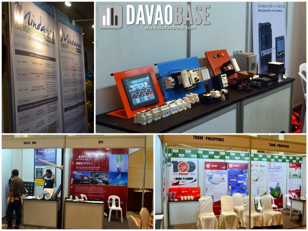 Displays and sponsors during the Mindanao Energy Efficiency Forum