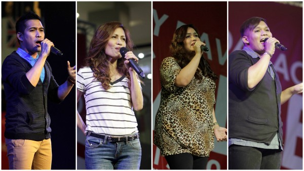 The Voice contestants: Thor, Eva, Radha, Kim (Photo from SM City Davao Facebook page)
