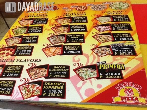 dexters pizza flavors and prices Menu for dexter's pizza, don bosco, parañaque city, dexter's pizza menu, dexter's pizza prices.