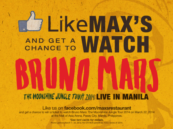 Win tickets to Bruno Mars concert in Manila!