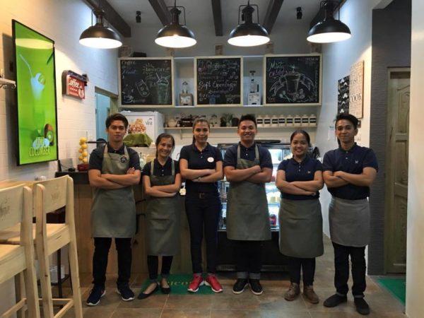 staff at vine cafe
