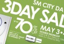 SM City Davao 3-Day Sale on May 3-5, 2013!