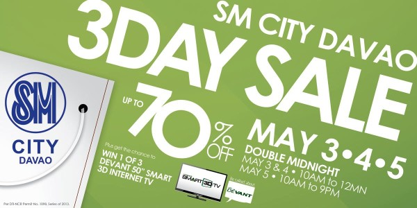 SM City Davao 3-day Sale on May 3-5