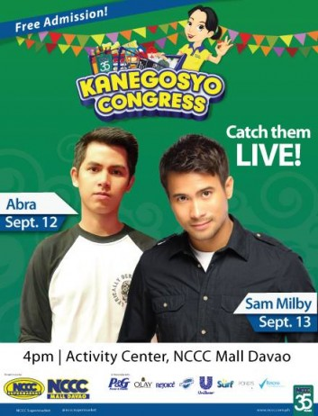 Abra and Sam Milby in Davao