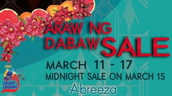 Abreeza Araw ng Dabaw sale