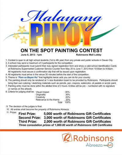 Malayang Pinoy Painting Contest in Abreeza