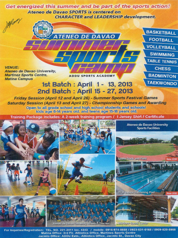 Ateneo summer sports camp