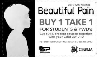 Beautiful Pain buy one get one coupon for SM City Davao