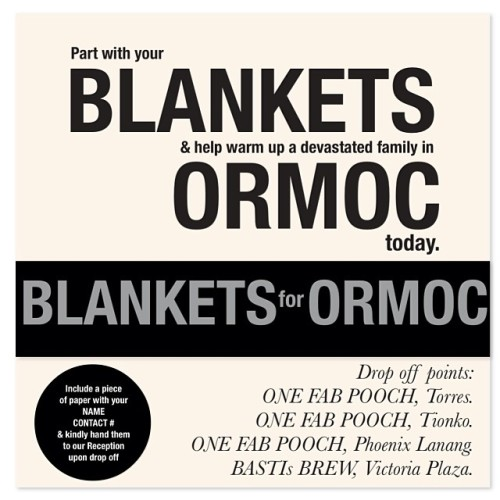 Blankets for Ormoc