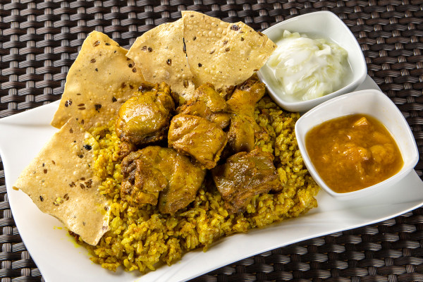 Chicken Biryani, a traditional Indian rice dish, is one of Trellis' bestsellers (Photo credit: Trellis 'N Vines)
