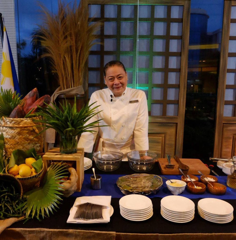 Chef Chel Galang-Yabut at Cafe Marco for the special Filipino buffet June 12-17 2017