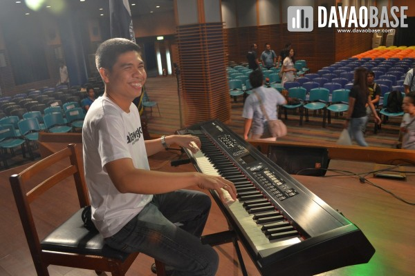 Chito at the Maestro's keyboard