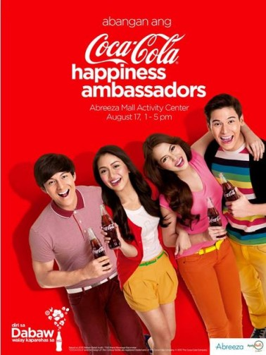 Coca-Cola happiness ambassadors in Davao