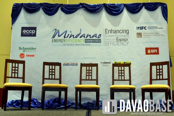 Mindanao Energy Efficiency Forum, July 23 2013 at Marco Polo Davao