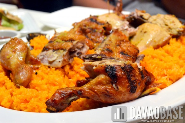 Peri-Peri Lemon and Garlic Chicken over a bed of Java Rice