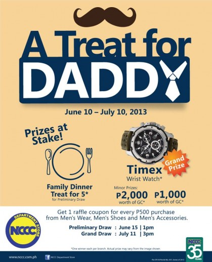 A Treat for Daddy at NCCC