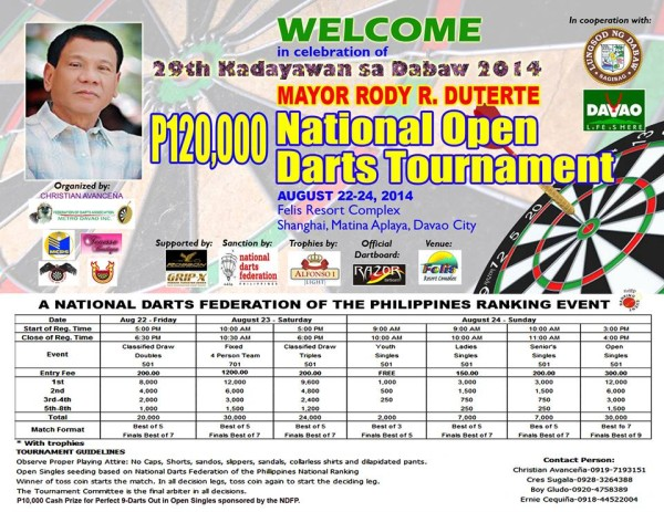 Kadayawan 2014 Darts Competition