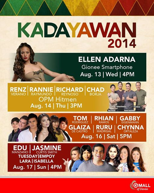 GMall Kadayawan celebrities