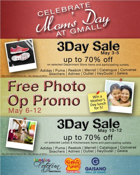GMall Mothers Day photo promo