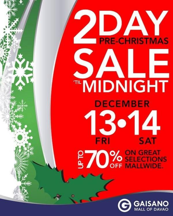 Gaisano Mall midnight sale