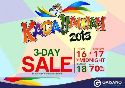 Gaisano Mall Kadayawan Sale