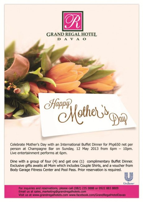 Grand Regal Hotel Mothers Day buffet