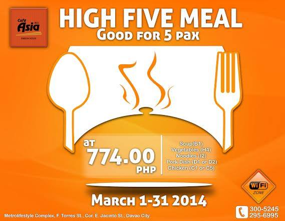 High Five Meal promo