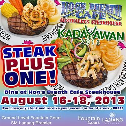 Hogs Breath Cafe Kadayawan promo
