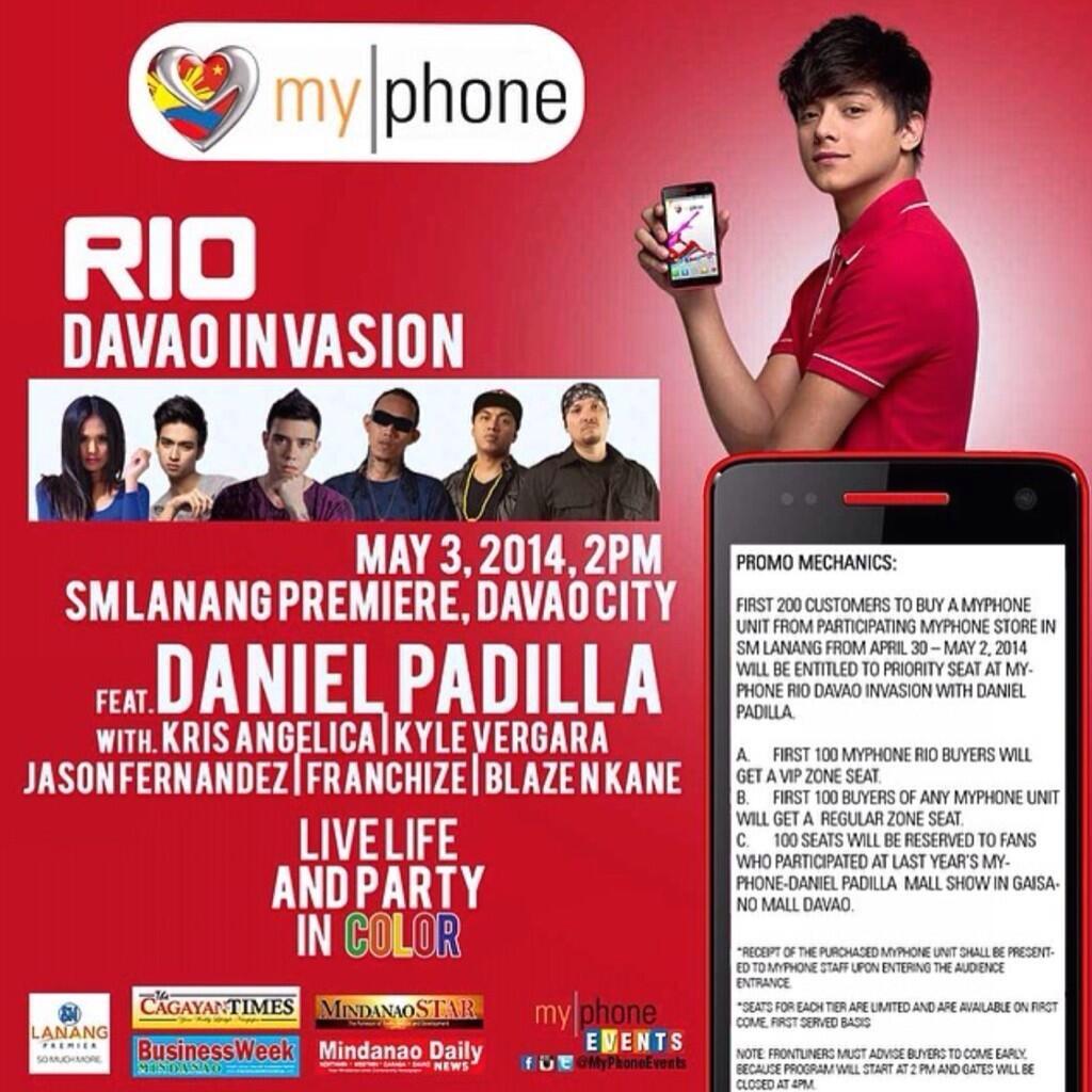 Daniel Padilla Rio Invasion Davao