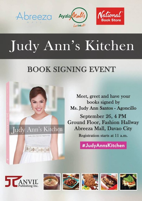 Judy Ann's Kitchen book signing in Davao