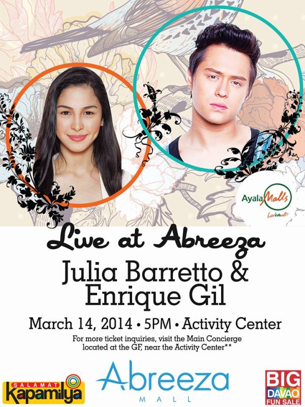 Julia Barreto and Enrique Gil in Araw ng Dabaw